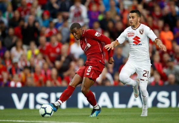 Liverpool fans go wild for Wijnaldum v Red Star