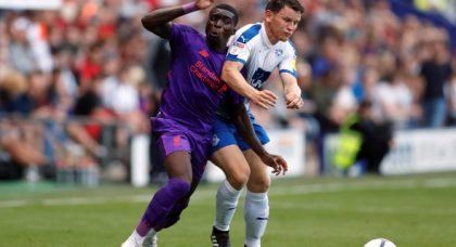 Liverpool's Ojo tweets about first days at Rangers