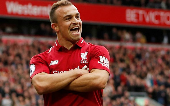 Image for Liverpool fans praise Xherdan Shaqiri's contribution after reports hint at summer exit