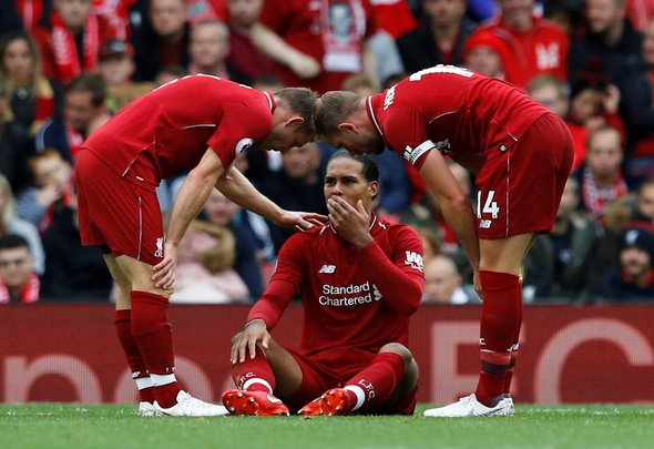 Liverpool fans fear the worst after Van Dijk scare