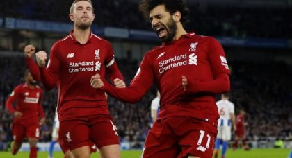 Liverpool fans rave over Salah v Brighton