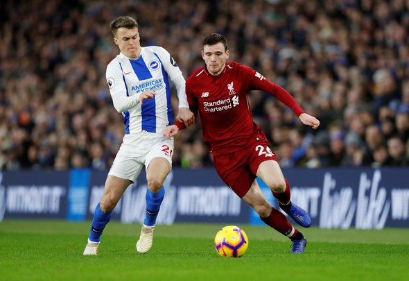 Robertson proves best left back in PL status v Brighton