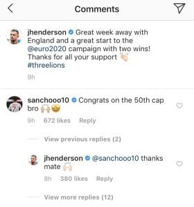 Jadon Sancho sends Instagram message to Liverpool senior