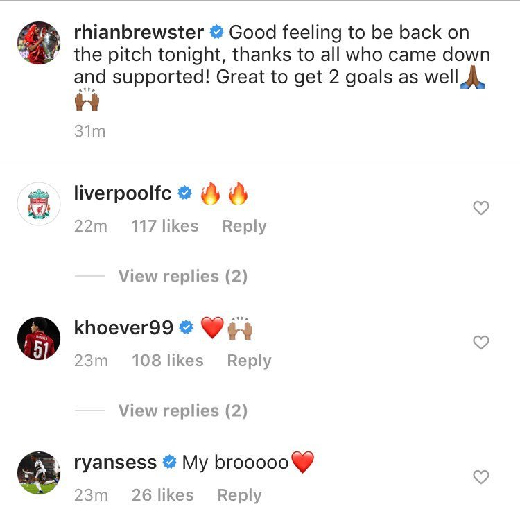 Ryan Sessegnon sends two-word message to Liverpool player