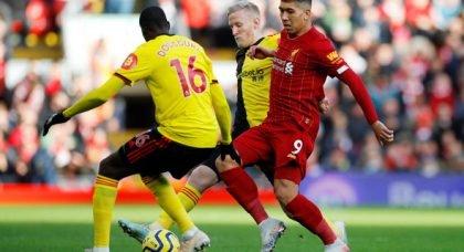 Liverpool fans destroy Firmino at HT v Watford