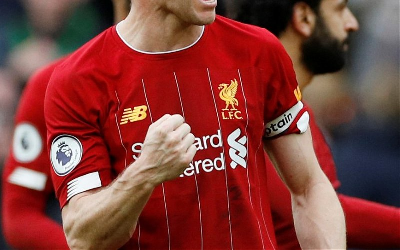 Image for Liverpool fans hail James Milner after viewing compilation of his 2019/20 goals