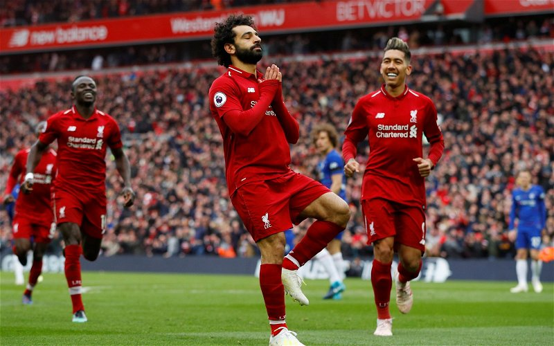 Image for Liverpool fans look back on Mohamed Salah's stunning strike against Chelsea one year ago today