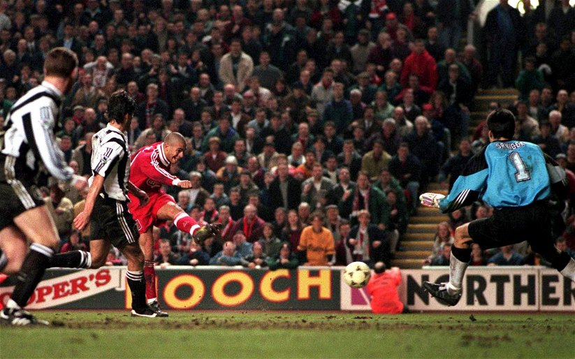 Image for On This Day (3 April): Stan Collymore seals Liverpool victory in epic Anfield encounter