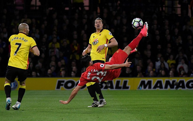 Image for On This Day (1 May): Emre Can's bicycle kick boosts Liverpool's hopes of Champions League return