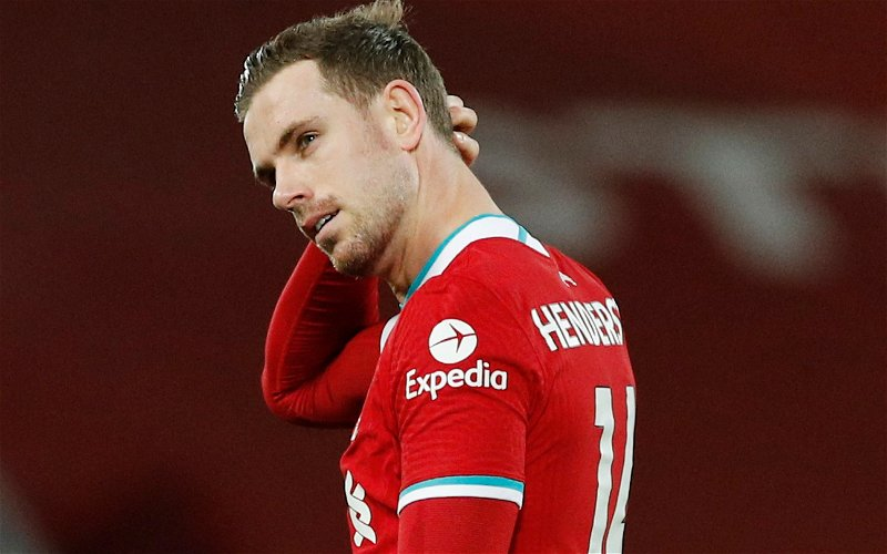 Image for England manager unsure whether Jordan Henderson will play again this season