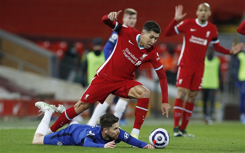 Image for Roberto Firmino could miss Liverpool's clash with RB Leipzig