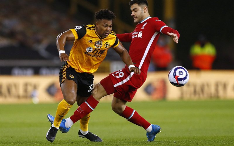 Image for Liverpool fans laud Ozan Kabak after fine Wolves display